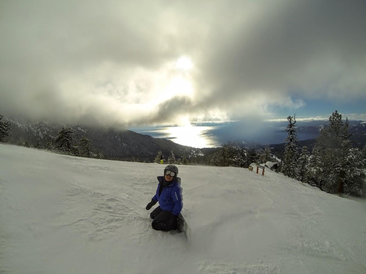 Patricia enjoying the view of Lake Tahoe