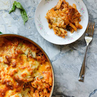 One Pot Broccoli Cauliflower Pasta Bake.