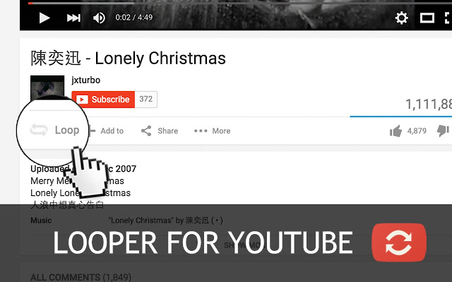 Looper for youtube chrome web store ccuart