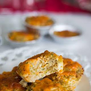 Broccoli and Cheese Cauliflower Muffins.