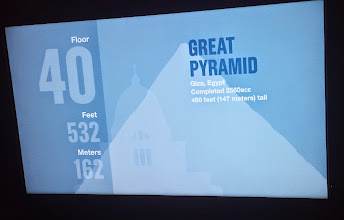 Photo: at the 40th floor, we were passing the height of the Great Pyramid