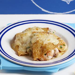 Seafood Mornay Crêpes.