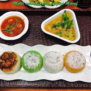 Healhty Breakfast Multi Colored Puttu.