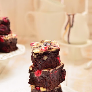 Cranberry Pecan Brownie with Cream Cheese Swirls