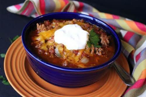 """Recipe Here: Super Bowl Chili """"With Fall in the air (tonight) it..."""