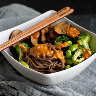 Soba Noodle Bowl Recipe with Vegetables & Peanut Sauce