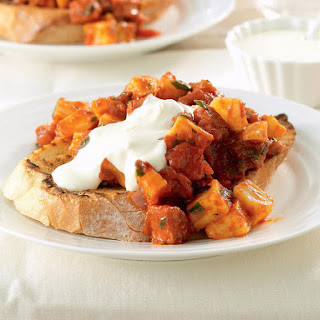 Patatas Bravas with Chorizo and Aioli