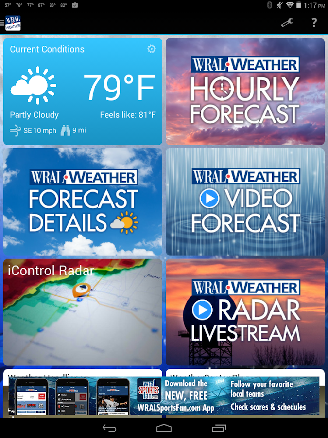 WRAL Weather- screenshot