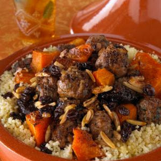 "Moroccan Meatball Tagine with Quinoa ""Couscous""."