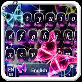 Tải Neon sáng bướm Keyboard Theme APK