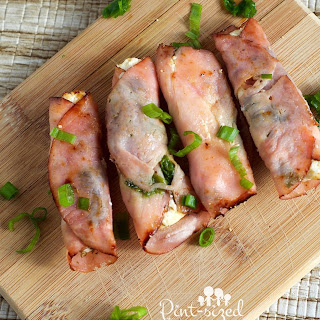 Baked Ham and Cheese Roll-ups.