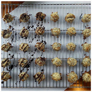Egg Free Mini Coconut Macaroons.