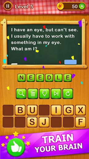 Word Riddles - Free Offline Word Games Brain Test apkmr screenshots 3