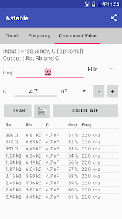App Timer IC 555 Calculator APK for Windows Phone