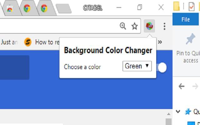 Change Browser background :: Citadel Hussein