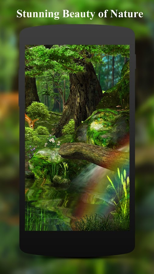 forest hd live wallpaper apk full. 3d deer-nature live wallpaper- screenshot forest hd wallpaper apk full