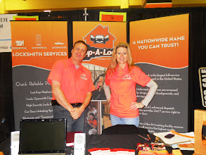 Photo: Mark Bellestri and Lori Johnston at the South Minneapolis Home Show