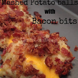 Loaded Mashed Potato Balls with Bacon Bits.