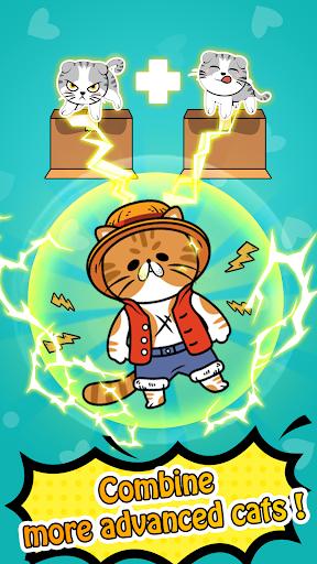 Merge Cats - Cute Idle Game  captures d'u00e9cran 1