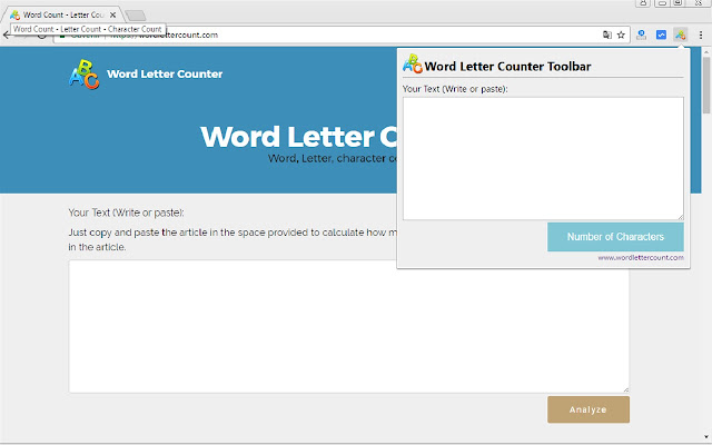Word Letter Counter