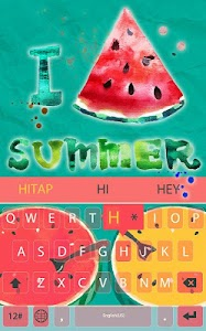 Summer watermelon for Keyboard screenshot 1