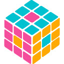 Colorful Rubik's Cube Icon