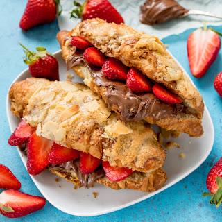 How To Turn Regular Croissants Into Almond Croissants (Then Stuff Them With Strawberries And Nutella!!).