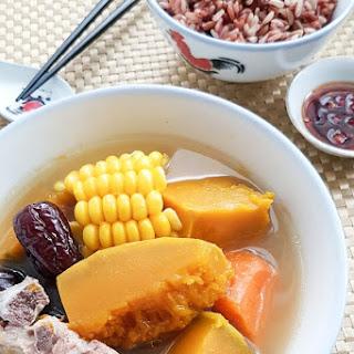 Pumpkin Pork Ribs Soup (Chinese Pumpkin Soup).