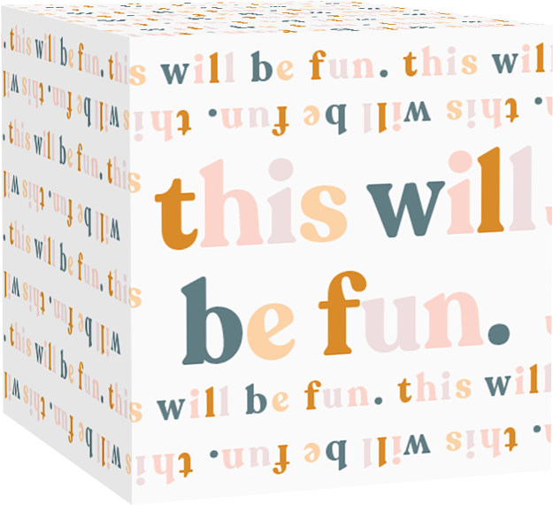 "Image of Greetabl gift with the wording, ""This Will Be Fun"""