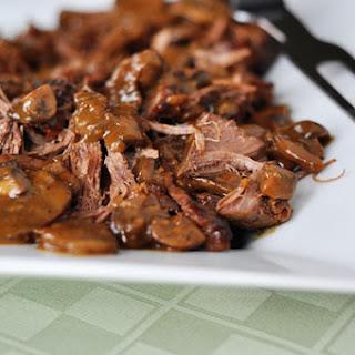 Delicious Braised Brisket with Mushrooms
