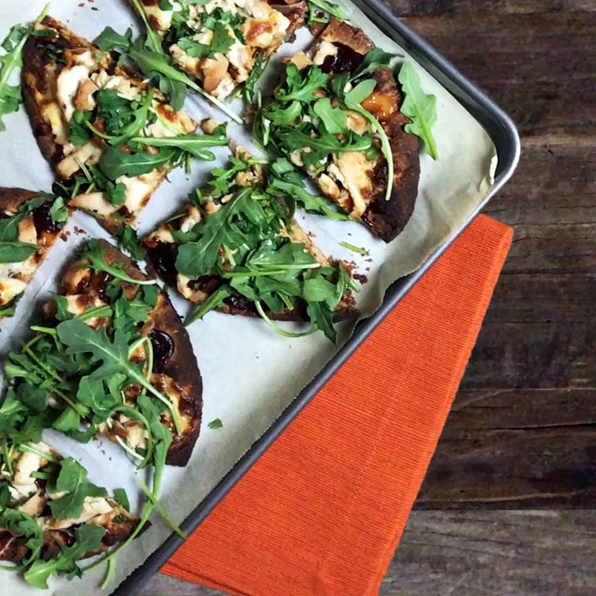 BBQ Chicken Naan Bread Pizza