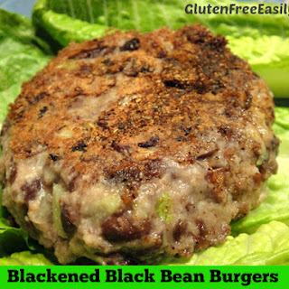 Blackened Black Bean Burgers