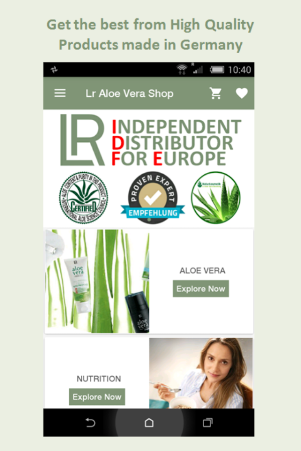 Lr Aloe Vera Shop- screenshot