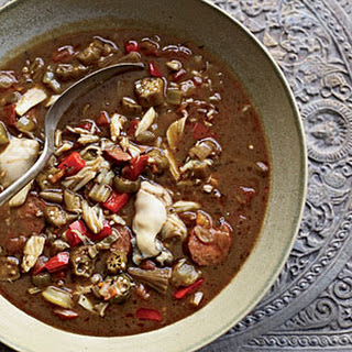 Andouille, Crab and Oyster Gumbo.