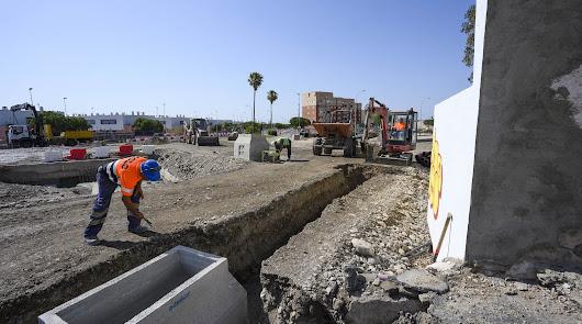 Obras del soterramiento en El Puche.