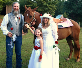 "Photo: Married at their home -  ""Western Theme"" Wedding  ~  Salem, SC 8/09 ~ www.WeddingWoman.net ~"