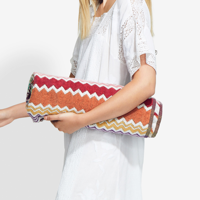 brunch outfit ideas - Missoni Home Rufus Terry beach towel