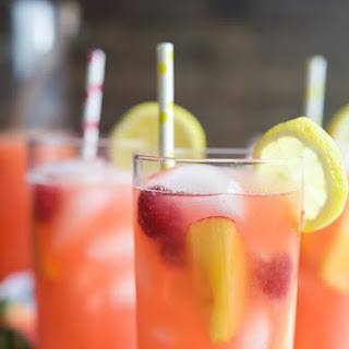 Homemade Raspberry Peach Lemonade