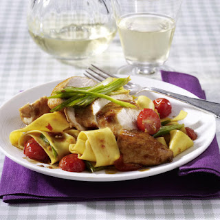 Balsamic Chicken with Pappardelle.