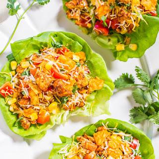 Chicken Tortilla Lettuce Wraps.