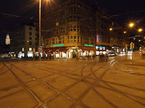 Photo: Tram tracks at Bellevue