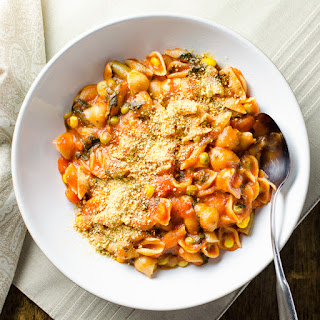 Rice Cooker Pasta and Veggies.