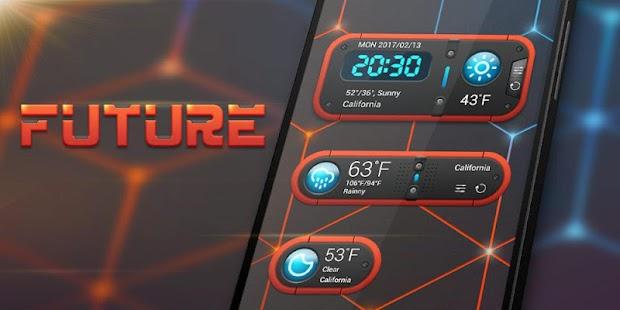 Future GO Weather Widget Theme - náhled