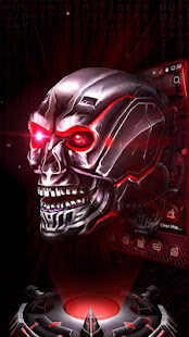 App Neon Tech Skull 3D Theme APK for Windows Phone