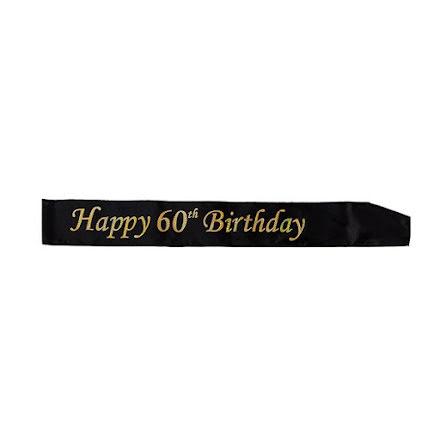 Ordensband 60th birthday, svart