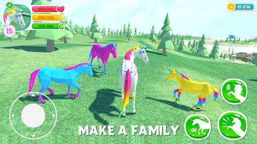🦄 Unicorn Simulator Family Free 2-Wild Horse Game screenshots 1