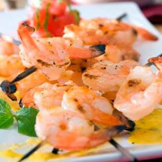 BBQ Shrimp with Mango Habanero Salsa.