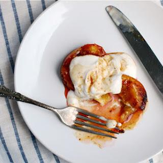 Roasted Nectarines with Cardamom-Infused Honey and Greek Yogurt.