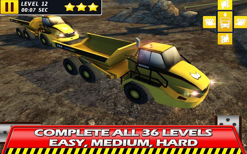Скриншот Hard Mining Truck Drive & Park