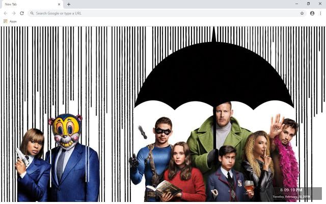The Umbrella Academy New Tab Theme